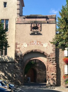 The entrance to the walled village of Kientzheim