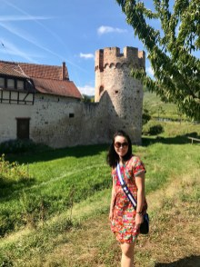 Anna outside of Kientzheim