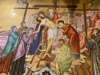 Another mosaic, this time of Jesus' body being taken down from the cross