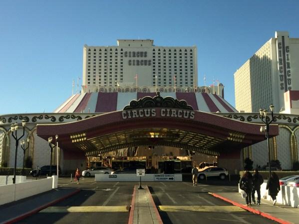 The entrance to Circus Circus