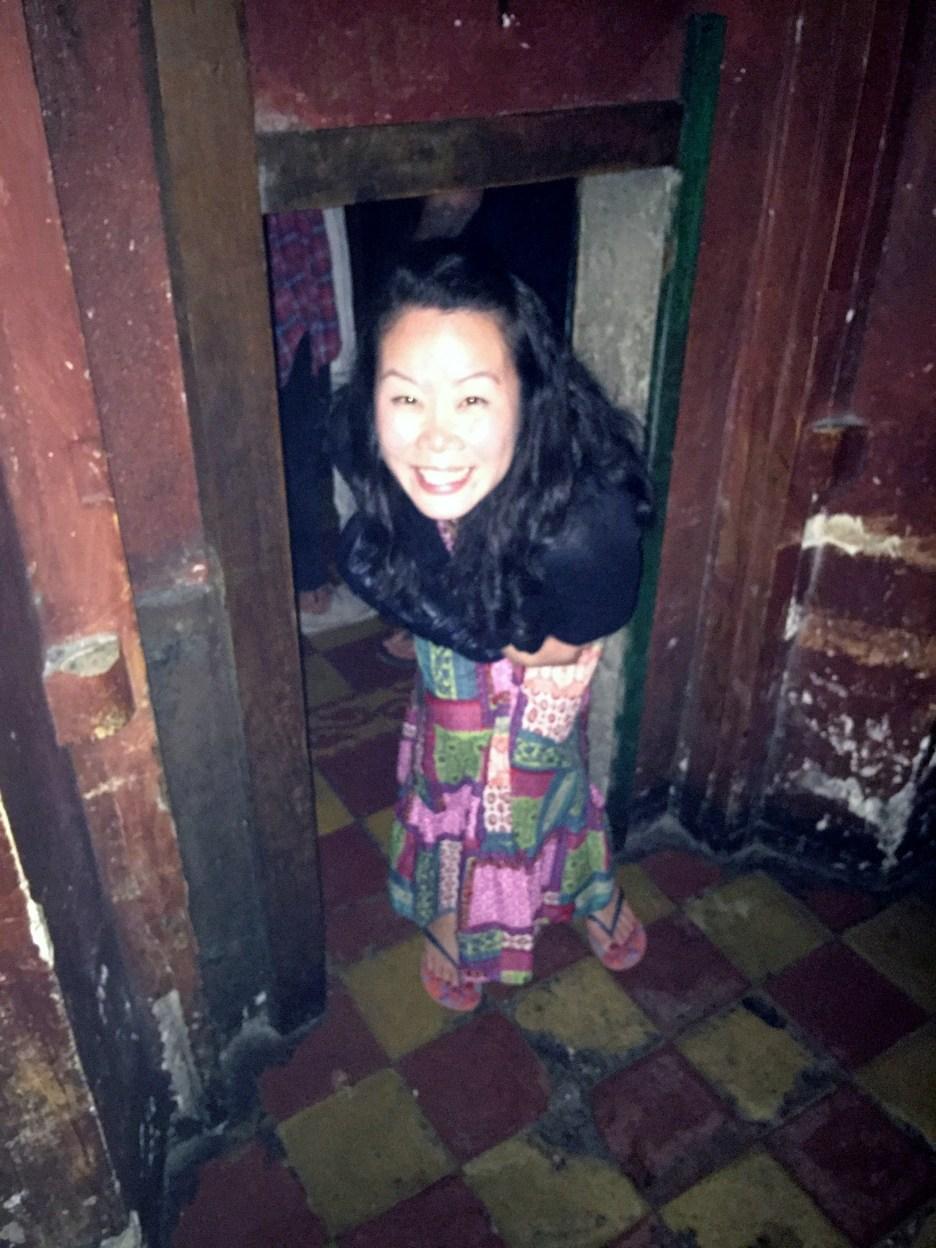 Anna entering through the original entrance