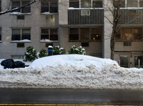 There is a car under there somewhere....