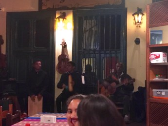 ...with a traditional, Peruvian band