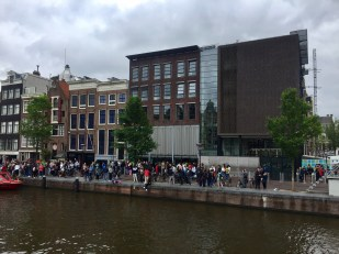 Outside Anne Frank's house