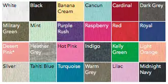 1510 Color Swatches