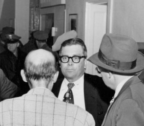 Dr. Thomas A. Harris MD seen in 1955 photograph at Walla Walla Penitentiary Prison Riot