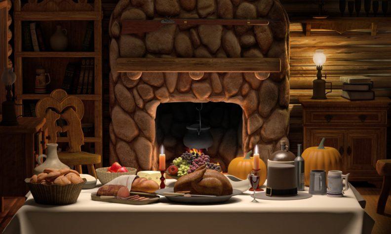 Thanksgving Cabin Dinner