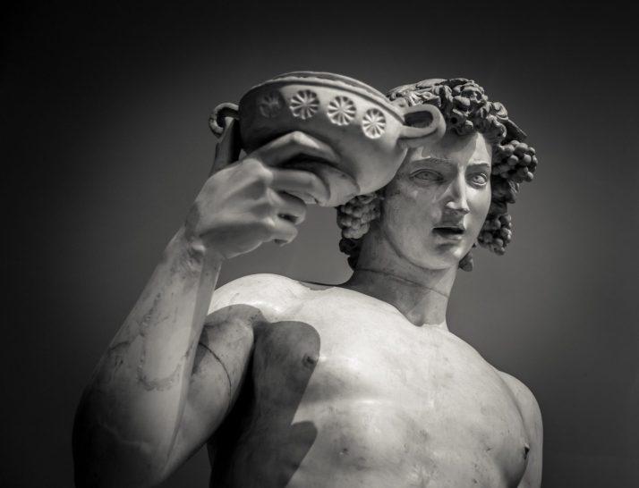 Dionysus Bacchus Wine statue portrait