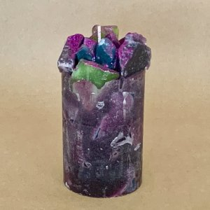 Purple Berry Scented Pillar Candle (Berrylicious)