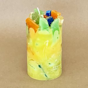 Tropical Yellow Scented Pillar Candle (Toco Toucan)