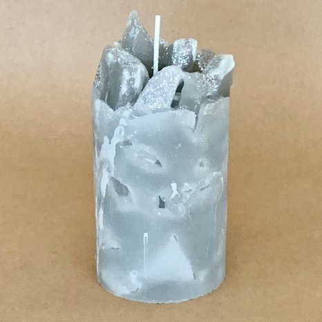 Gray Scented Pillar Candles (Winter Storm)
