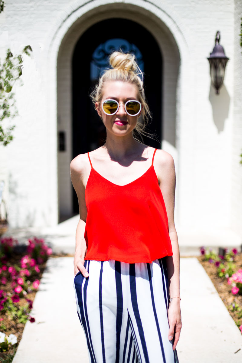 red flowy top- lubbock fashion blogger