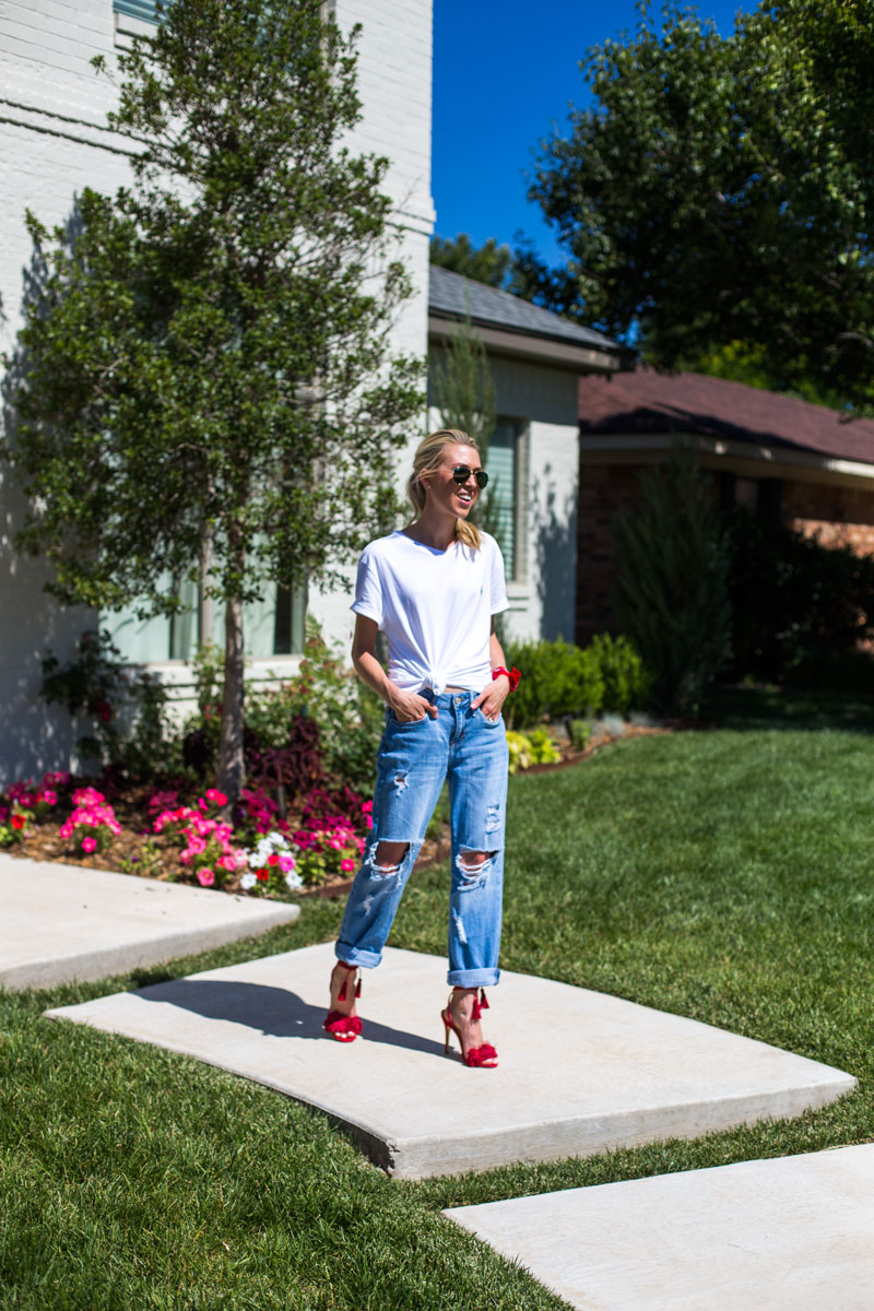 red ring shoes - ripped jeans - amarillo blogger