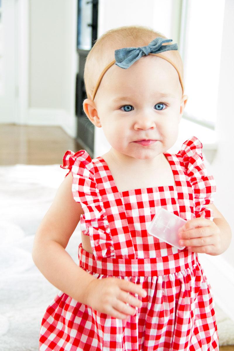 red gingham romper - mommy blogger - dallas mommy blogger