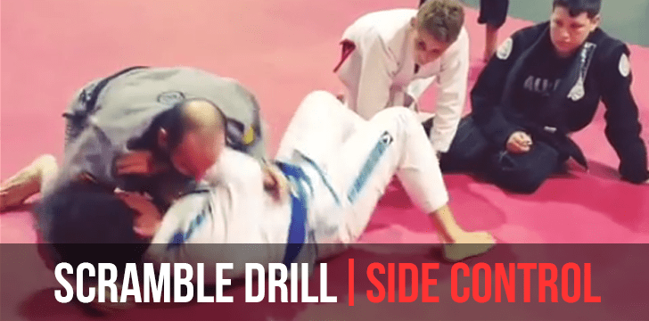 Side mount scramble motion drill – BJJ Mississauga
