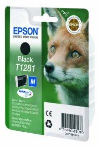 Epson T1281 Tintenpatrone Fuchs, Singlepack, schwarz