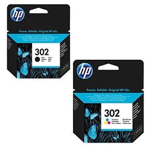 1x Set Original HP Tintenpatrone F6U66AE F6U65AE HP 302 HP302 für HP Officejet 3800 Series - BLACK + Color - Leistung: BK ca. 190 / Color ca. 165 Seiten/5%