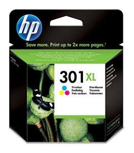 HP 301XL Blau/Gelb/Rot Original Druckerpatrone mit hoher Reichweite für HP Deskjet, HP Envy, HP Photosmart