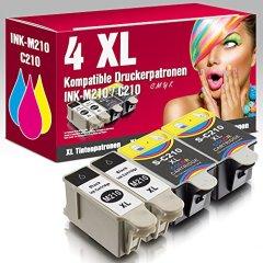 ms-point® 4 kompatible Druckerpatronen für Samsung CJX-1000 CJX-1050W CJX-2000FW Patronen kompatibel zu INK-M210 INK-C210 INK-M215