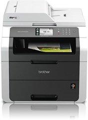 Brother MFC-9142CDN Kompaktes 4-in-1 Farblaser Multifunktionsgerät (Drucken, scannen, kopieren, faxen, 2.400x600 dpi, USB 2.0 Hi-Speed, LAN, Duplex) dunkelgrau