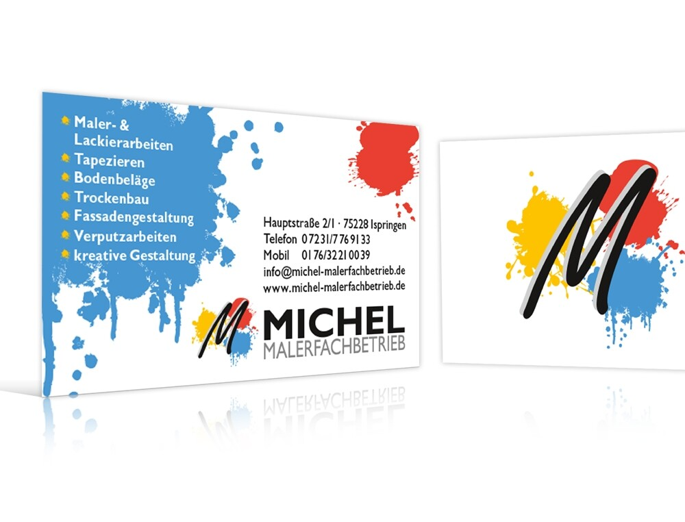 Portfolio Maler Michl Visitenkarten