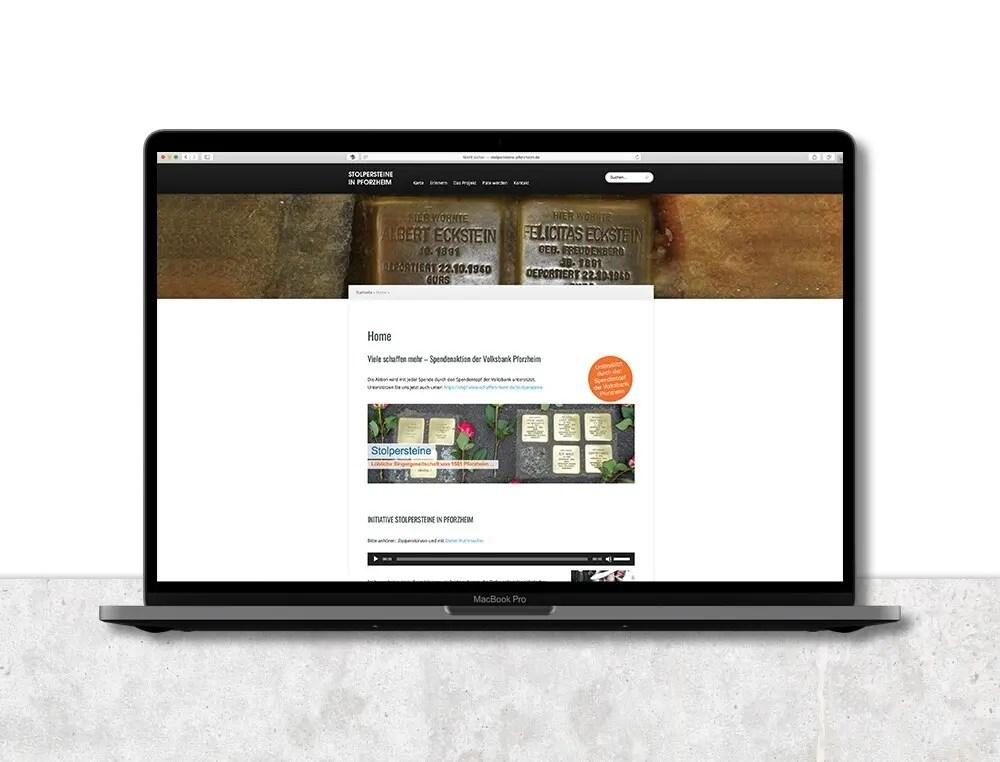 Portfolio Stolpersteine Webseite