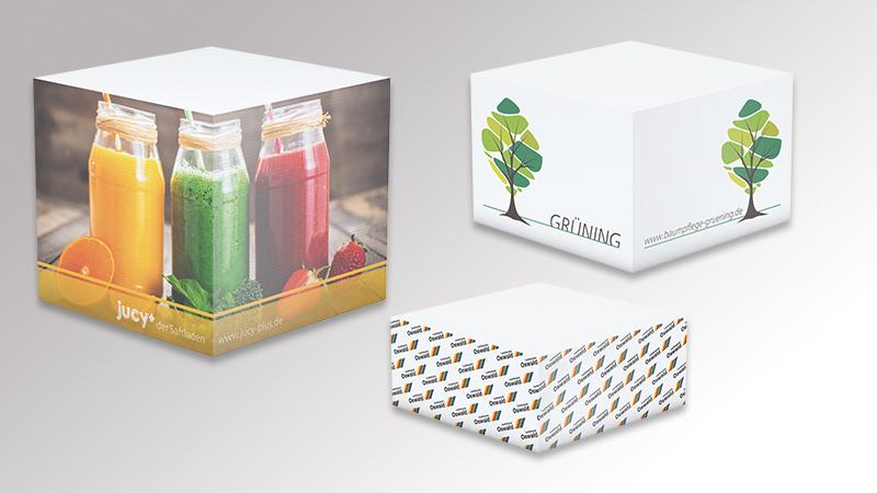Cube Haftnotizen von Druck+Medien Heiligenhaus