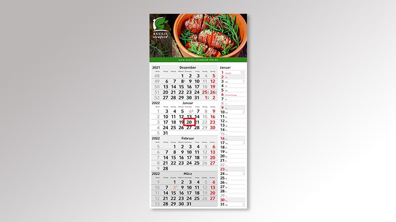 Konzept4 Monatskalender von Druck+Medien Heiligenhaus