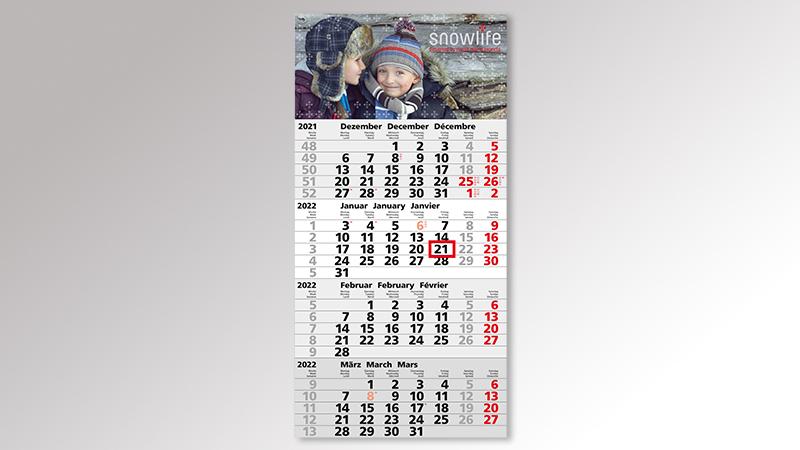 Mega4 Monatskalender von Druck+Medien Heiligenhaus