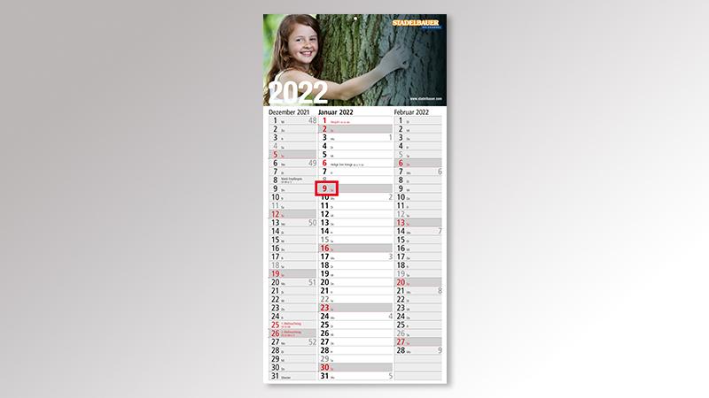 Spectrum3 Monatskalender von Druck+Medien Heiligenhaus