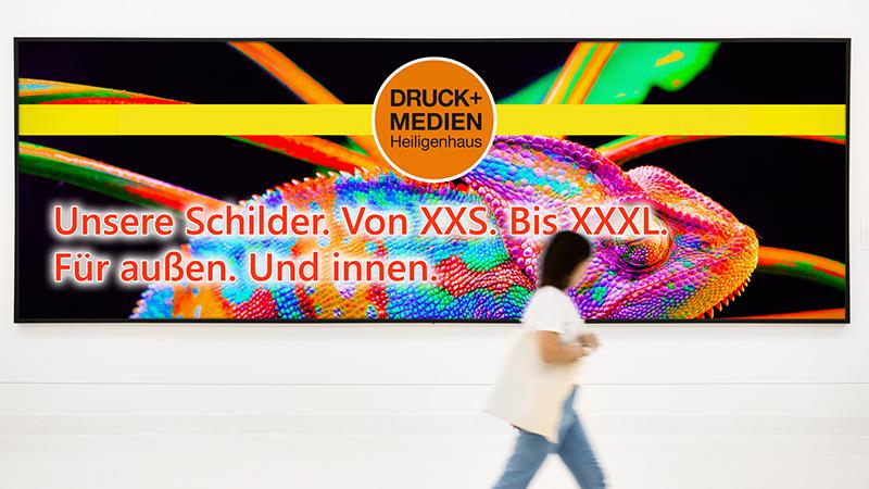 Werbeschilder von Druck+Medien Heiligenhaus