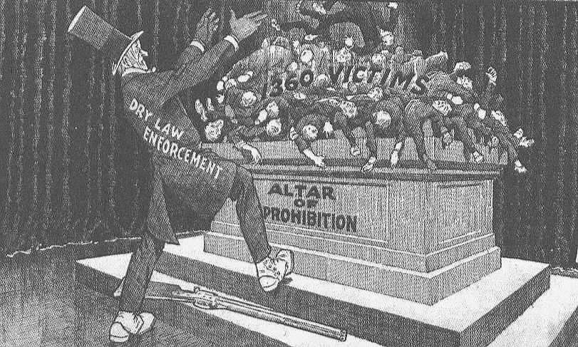 anti prohibition cartoons     prohibitionist making a few sacrifices