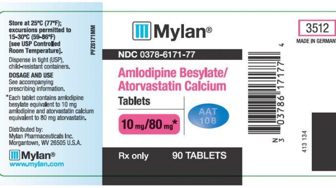 Blood Medication Amlodipine Pressure
