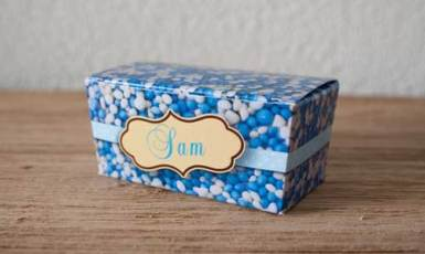 Geboorte doosje voor kraamfeest