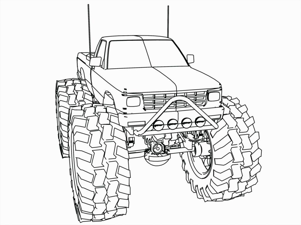 Kolorowanka Dodge Ram Monster Truck Do Druku