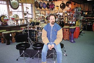 Gary Forkum presides over one of Nashville's few remaining drum shops.