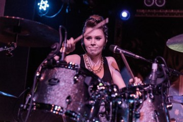 collette williams on her drums