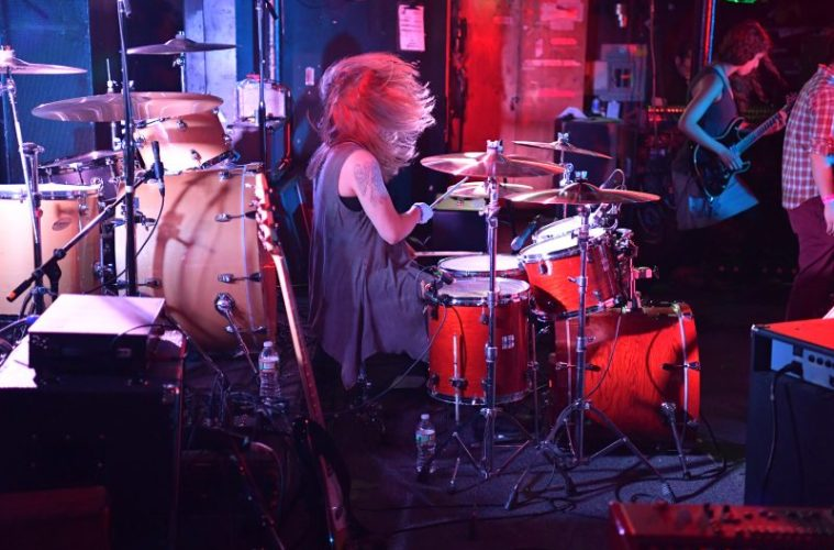 Courtney Petersen Drumming Unstraight band