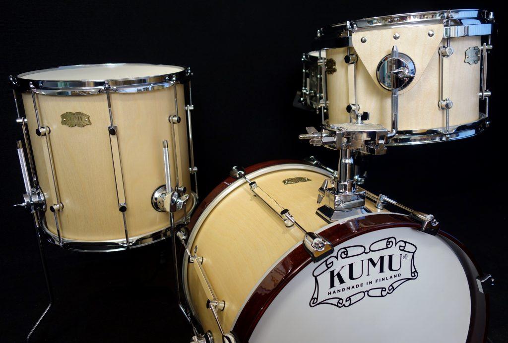 Finland's Kumu Drums with a custom jazz kit in birch with satinsound finish