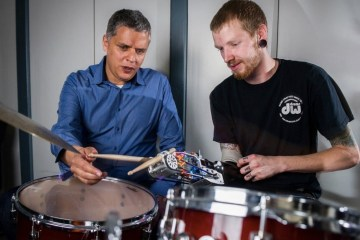 "Jason Barnes, ""bionic drummer"""