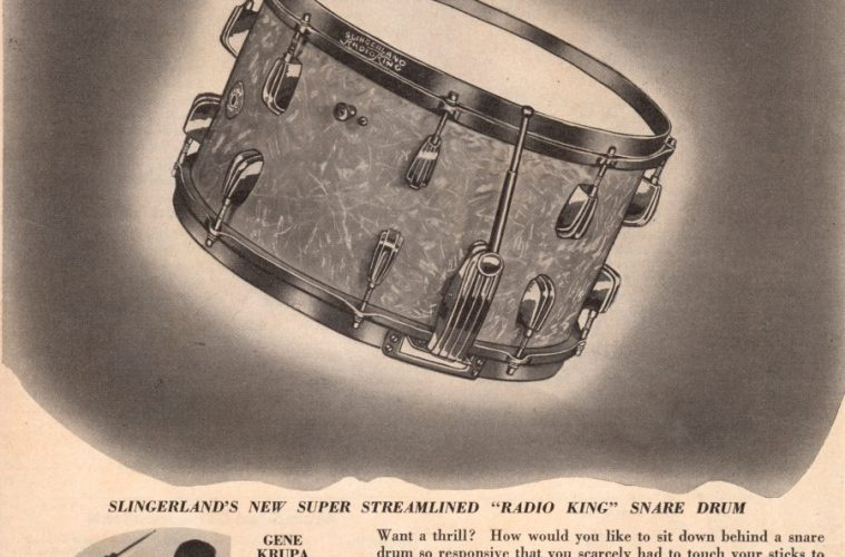 1940 Super Streamlined Radio King snare drum ad