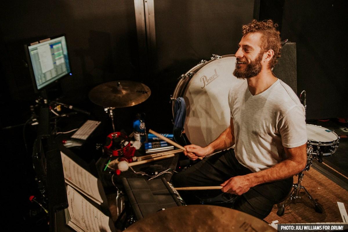 Jake Wood Hamilton hand drum Juli Williams Drum magazine percussion sheet music