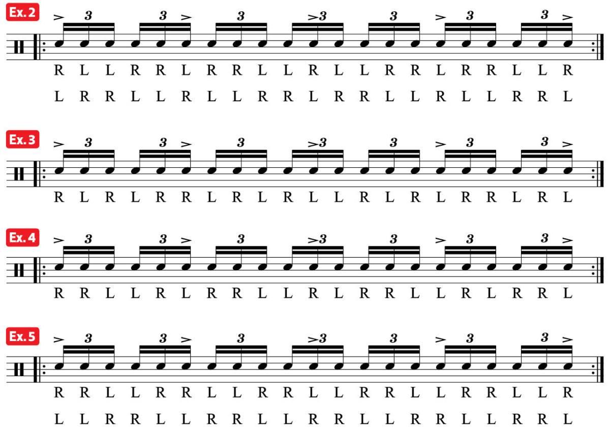 practice pad lesson Drum Video Lesson- subdivision parradiddle anika nilles ex2-5