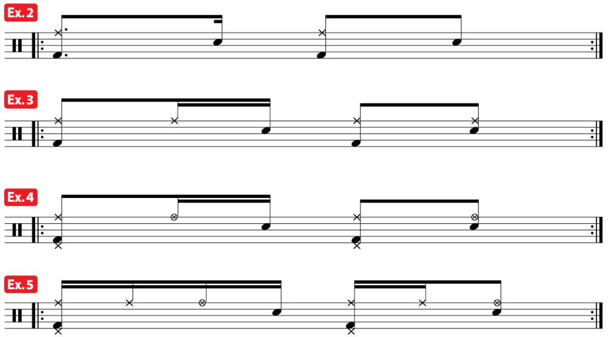 practice pad lessons afro carribean world music drum lesson four-note foundation ex2-5