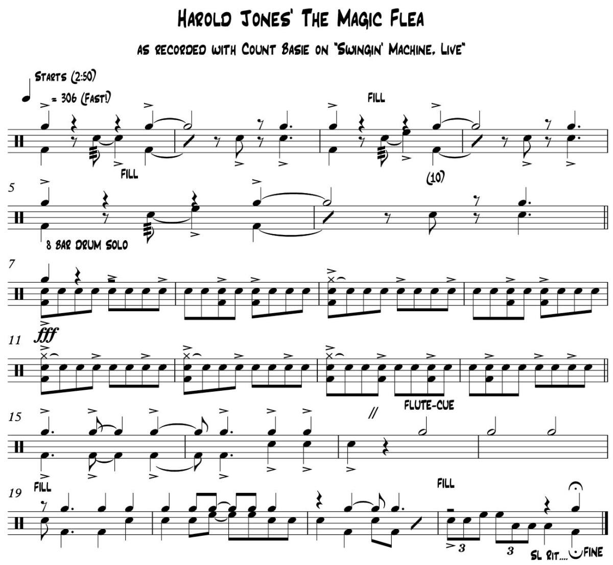 practice pad lessons jazz harold jones' the magic flea lesson