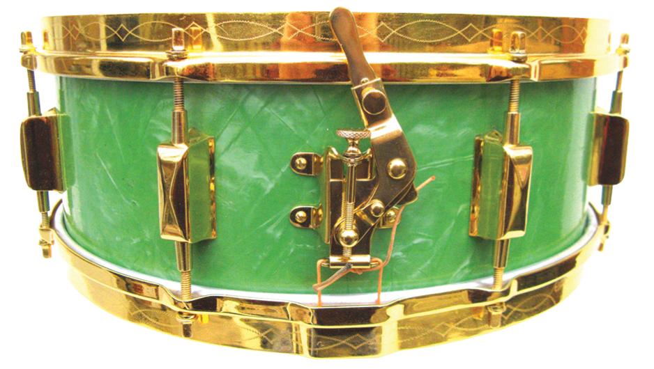 Green pearl Leedy Broadway snare