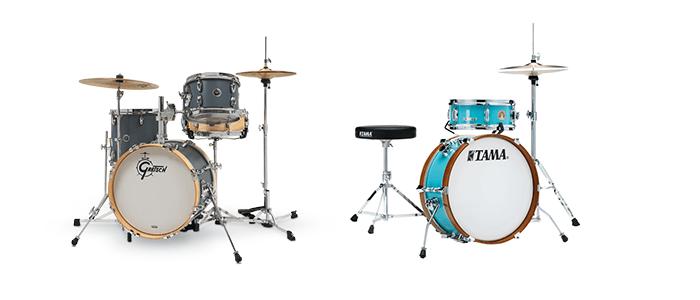 gretsch and tama mini drum sets