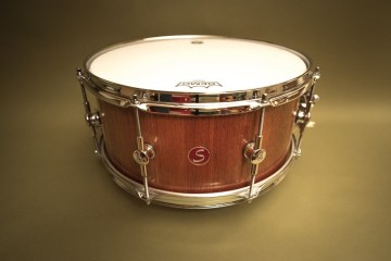 "Sugar Percussion mahogany 15"" x 7"" snare"