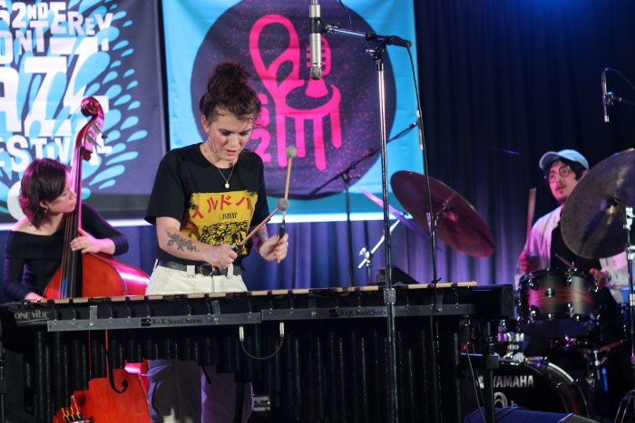 Vibraphonist Sasha Berliner, 21, plays at the 2019 Monterey Jazz Festival