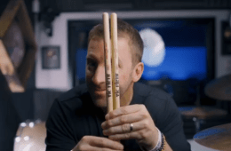drummer mike johnston with vic firth drumsticks